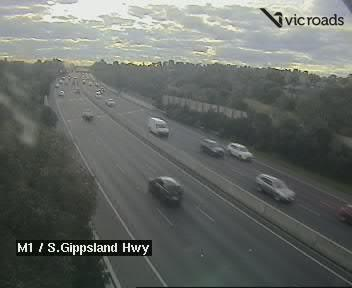 M1, Monash Fwy / South Gippsland Hwy, looking north west