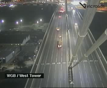Webcam at West Gate Bridge at the West Tower Port Melbourne