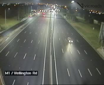 Webcam at M1 at Wellington Rd Mulgrave