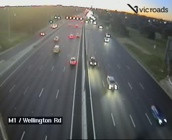 M1, Monash Freeway (at Wellington Road), VIC (Inbound), VIC