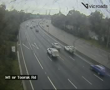 M1 Monash Fwy at Toorak Rd