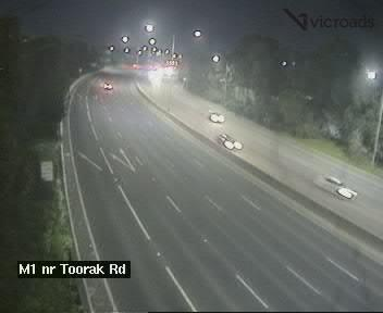M1, Monash Freeway (at Toorak Road), VIC (Outbound), VIC