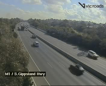 Webcam at M1 Monash Fwy at Sth Gippsland Freeway Endeavour Hills