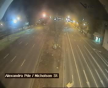 Webcam at Alexandra Parade at Nicholson St Fitzroy