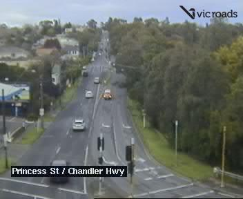 Webcam at Princess St at Chandler Hwy Kew