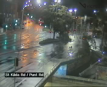 Webcam at St Kilda Rd at Punt Rd St Kilda