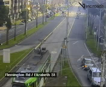 Webcam at Flemington Rd at Elizabeth St Melbourne
