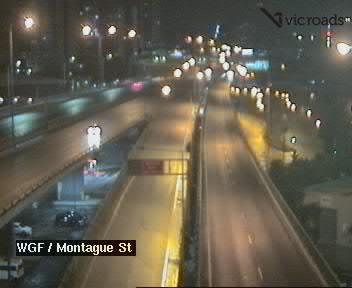 Webcam at West Gate Freeway and Montague St South Wharf